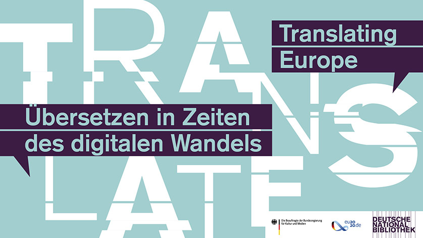 Plakat der Konferenz Translating Europe - Überstezen in Zeiten des digitalrn Wandels