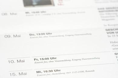 Ausschnitt aus einem Veranstaltungsleporello der Deutschen Nationalbibliothek