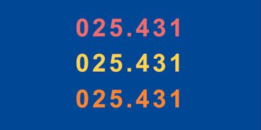 Grafische Umsetzung der Notation für die Dewey Dezimalklassifikation (025.431)