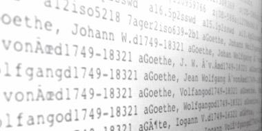 Metadatensatz zur Person Johannn Wolfgang Goethes im Austauschformat MARC 21