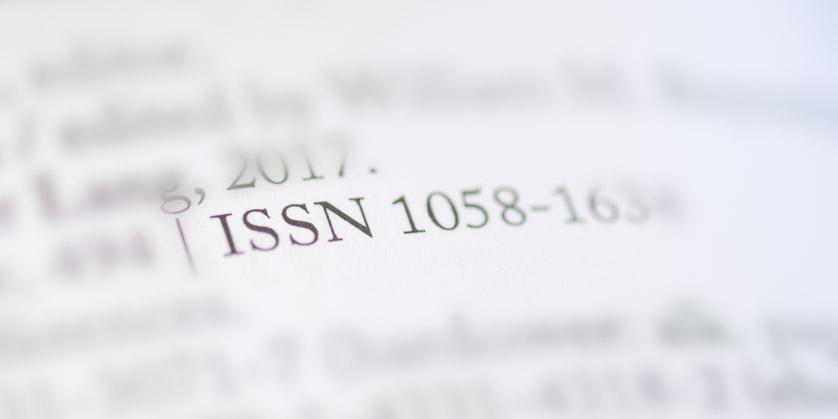 ISSN-Angabe im Impressum einer Veröffentlichung