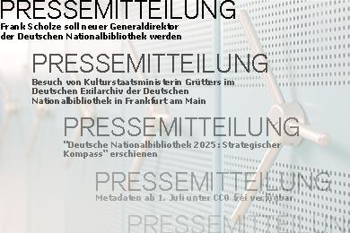"""Kompaktregalanlage im Hintergrund, Vordergrund mehrfach Schrift """"Pressemitteilung"""" und Teaser"""