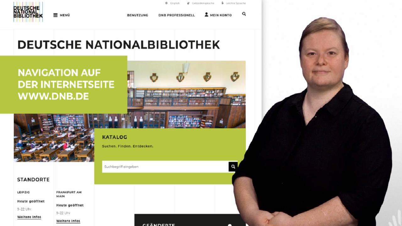 Gebärdensprache Startbild Navigation Webseite