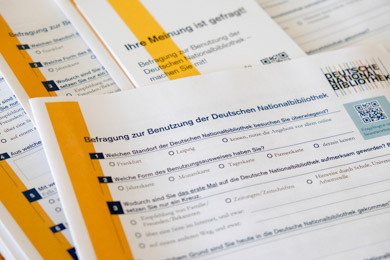 Questionnaires for the survey on using the German National Library 2020